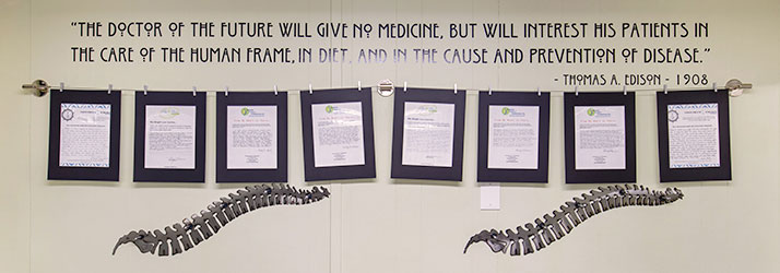 Chiropractic Plymouth MA Wall with Quote