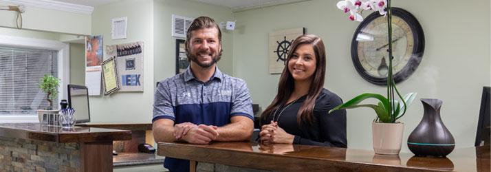 Chiropractor Plymouth MA Josh Koenig and Kayla